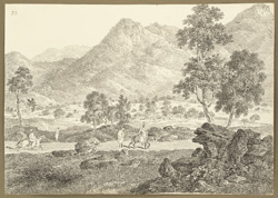 End of the Chittru Pass near the village of Chittru Chatta (Bihar). 11 February 1823